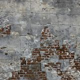 Sehr alte Backsteinmauer Stockbild