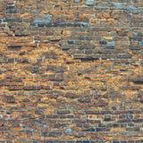 Sehr alte Backsteinmauer Stockfotos