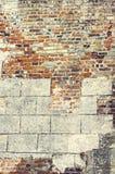 Sehr alte Backsteinmauer Lizenzfreies Stockfoto