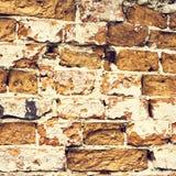 Sehr alte Backsteinmauer Lizenzfreies Stockbild