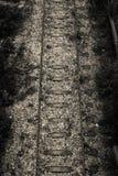 Sehr alte Bahngleise, obere Ansicht Lizenzfreies Stockbild