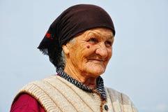 Sehr alte Frau lizenzfreie stockbilder