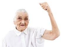 Großmutter tut nicht aufgibt Stockbild