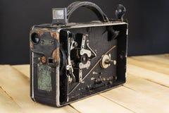 Sehr alte Handvideokamera stockbild