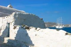 Sehr alte Kirche in Mykonos Stockfoto