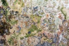 Sehr alte schädigende gemalte Wand, abstrakter Hintergrund lizenzfreie stockbilder