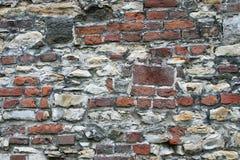 Sehr alte Stein- und Backsteinmauerbeschaffenheit Lizenzfreie Stockbilder