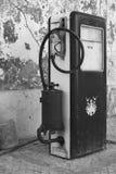 Sehr alte Tanksäuleversorgung Stockfoto