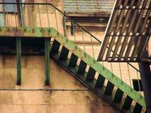 Sehr alte Treppen Stockfotos