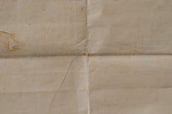 Sehr alte zerknitterte Beschaffenheit des braunen Papiers Lizenzfreie Stockbilder