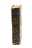Sehr altes Buch lokalisiert auf Weiß Stockfoto