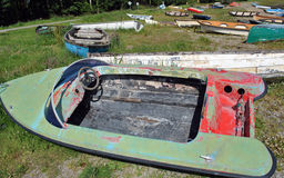 Sehr altes Drehzahlboot Stockfotos