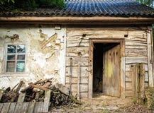 Sehr altes Haus Hintergrund Lizenzfreie Stockfotos