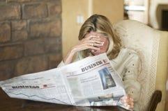 Sehr deprimierende Nachrichten Lizenzfreies Stockbild
