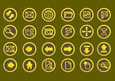 Sehr einfache und hübsche Web-Ikonen Lizenzfreies Stockfoto