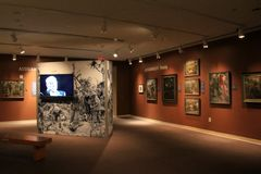 Sehr emotionale Ausstellung von verschiedenen Kämpfen und von Kriegen, WWII-Museum, New Orleans, 2016 Stockbilder