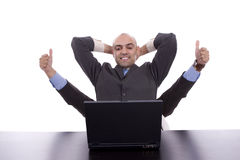 Sehr erfolgreicher Geschäftsmann Lizenzfreie Stockfotos