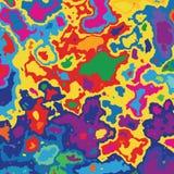 Sehr farbige Karte, Stelle der Farbe Stockfoto