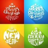 Sehr frohen Weihnachten und ein guten Rutsch ins Neue Jahr Lizenzfreies Stockbild