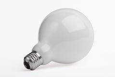 Sehr große Glühlampe getrennt auf Weiß Lizenzfreies Stockbild