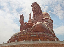 Sehr große Guanyin Bronze Stockfotos