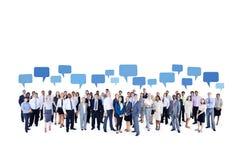 Sehr große multiethnische Geschäftsgruppe Lizenzfreie Stockfotos