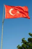 Sehr große türkische Markierungsfahne Stockfoto