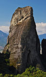 Sehr großer Felsen bei Meteora Stockfotos