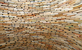 Sehr großer Stapel Bücher Stockfoto