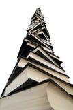 Sehr großer Stapel der Bücher Stockbilder