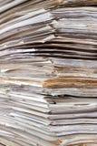 Sehr großer Stapel Papiere Stockfotografie