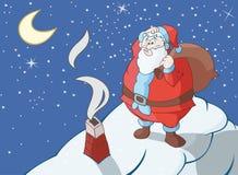 Sehr großer Weihnachtsmann lizenzfreie abbildung