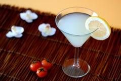 Sehr großes Cocktail mit Zitrone Stockfotografie