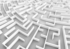 Sehr großes Labyrinth Geschäftsstrategiekonzepte, -herausforderung, Lösen von Problemen usw. stock abbildung