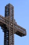 Sehr großes Metallkreuz Stockbilder