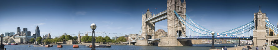 Sehr groß-Zentrales London-Panorama Lizenzfreies Stockbild