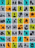 Sehr große Ansammlung abstrakte Leutezeichen Stockfotografie