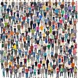 Sehr große Masse der Leute Lizenzfreies Stockfoto