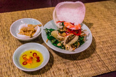 Sehr gute asiatische Meeresfrüchte Stockfoto