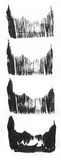 SEHR HÖHEN-Entschließung Geometrischer Graffitizusammenfassungshintergrund Tapete mit Ölsegeltuch-Anschlageffekt Schwarzes Acryl Lizenzfreies Stockfoto