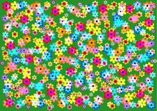 sehr heller und froher Hintergrund von bunten Blumen Lizenzfreie Stockbilder
