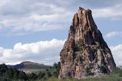 Sehr hohe Felsen-Anordnung im Garten des GottNationalparks (Kolorado). Lizenzfreies Stockbild