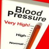 Sehr hoher Blutdruck lizenzfreie stockfotos