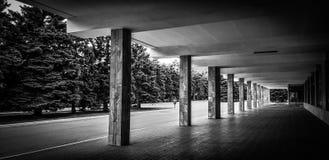 Sehr interessantes Schwarzweiss-Foto mit Rhythmus stockfotos