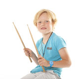 Sehr junger Schlagzeuger Stockfotos