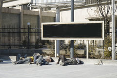Sehr müde Arbeitskräfte Stockfoto