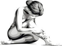 Sehr netter Frauenkörper Stockfotografie