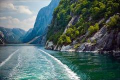 Sehr schöne Naturlandschaft am geirangerfjord in Norwegen Stockbild
