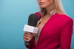 Sehr schöner Fernsehvorführer Lizenzfreies Stockbild