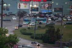 Sehr seltene Überschwemmung in Odessa Stockbild